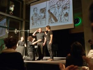 Le tournoi d'Impro BD au Musée de la Civilisation de Québec : une nouvelle tradition vient de naître au Festival de la BD francophone de Québec.