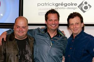 Sylvain Larocque, Sylvain Parent-Bédard et Daniel Lemire