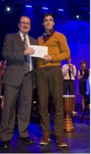 Nicolas Audet remporte le 1er prix du 33e concours Cégeps en spectacle