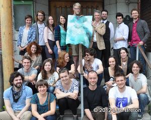 Une partie des comédiens et artisans pour Les Chantiers 2012
