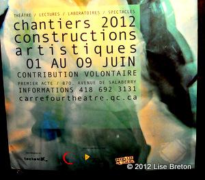Affiche pour Les Chantiers 2012