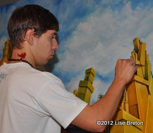 Artiste-graffiteur Olivier-Moisan Dufour