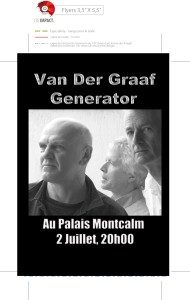 Van Der Graaf Generator à Québec le 2 juillet au Palais Montcalm