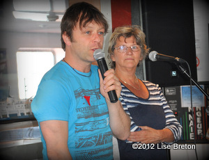 Daniel Boucher, porte-parole et Solange Morissette, directrice générale de ROSEQ