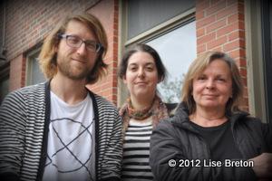 Jocelyn Pelletier, Marie-Renée Bourget Harvey membres de Tectonik et co-fondateurs des Chantiers et Marie Gignac directrice artistique du Carrefour international de Théâtre de Québec