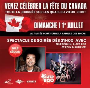 FÊTE DU CANADA Le dimance 1er juillet  / Quais du Vieux-Port de Montréal