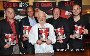 Jacques J Ouellet, Gilles Morais, Robert Gonneville, André Jalbert et Gabriel Rancourt