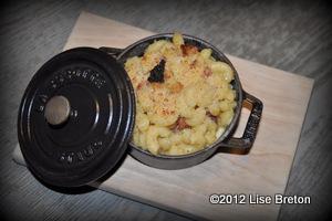 Le fameux macaroni au fromage, agrémenté de truffes.