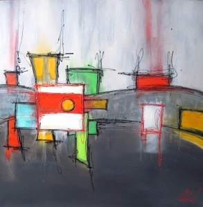Œuvres récentes Flash Coiffure reçoit l'artiste peintre Cynthia Bond