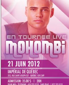 Spectacle de Mohombi à l'Impérial de Québec le 21 juin 2012