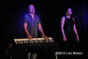 Dan Bigras et sa choriste Marie-Anne Mathieu