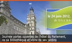 Journée portes ouvertes de l'hôtel du Parlement