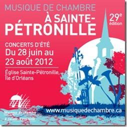 MUSIQUE DE CHAMBRE A SAINTE-PETRONILLE  29e saison / été 2012