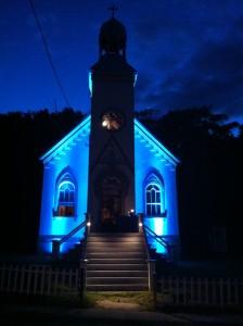 La chapelle catholique du lieu historique national de la Grosse-Île-et-le-Mémorial-des-Irlandais