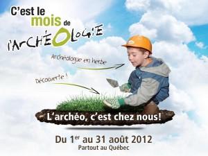 la programmation du mois de l'archéologie, du 1er au 31 août 2012
