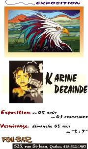 Expo de Karine Dezainde au Fou Bar