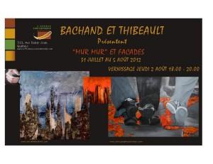 Mur Mur et Façades Danyelle Bachand et Nathalie Thibeault à L'espace contemporain