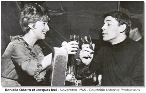 Danilèle  Oddera et Jacques Brel