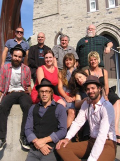 Les artistes présente au lancement de la programmation d'Anglicane