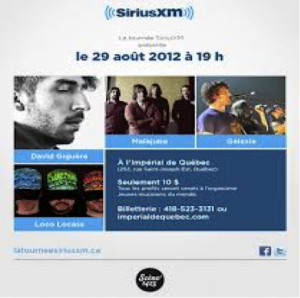 Tournée SIRIUS XM le 29 août 2012