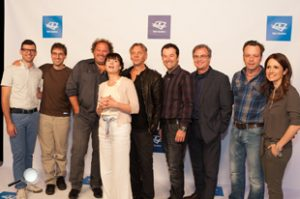 Frédéric Choinière, Jean-Sébastien Busque, Martin Picard, Anne Dorval, Marc Labrèche, Jeff Boudreault, René Vézina et Daniel Boucher.