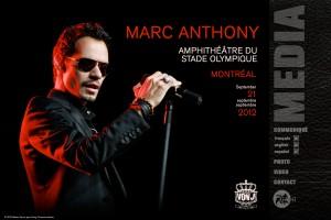 Marc Anthony à l'Amphithéâtre du Stade olympique le 21 septembre