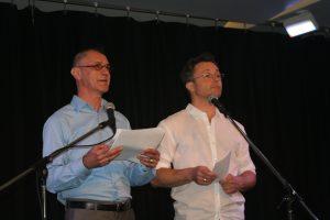 Rafik Hubert Sabbagh accompagné de l'artiste pluridisciplinaire Marc Béland comme président d'honneur et porte parole