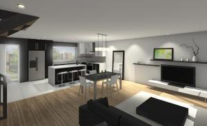 L'intérieur des futures maisons de ville VertBourg