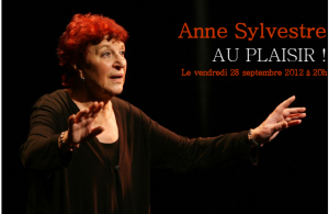 Anne Sylvestre, au plaisir ! le vendredi 28 septembre 2012 à 20h