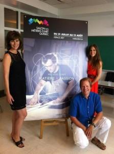 Les ambassadeurs 2012 du Salon des Métiers d'art – Québec: Geneviève Brouillette, Chéli Sauvé-Castonguay et Christopher Hall