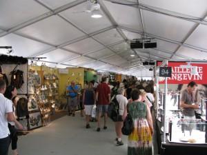 La tente du  Salon des métiers d'art – Québec 2012