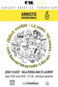 CONCERT COLLECTIF POUR AMNISTIE INTERNATIONALE Montréal