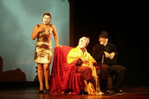 Argan, Béline et Béralde discutent le testament d'Argan