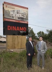Jean-Yves Morissette, président directeur général Construction Dinamo inc et Yanik Guillemette, président de Guillemette Propriétés