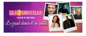 CHANSON INTERNATIONALE présente son gala 10e anniversaire les 29 et 30 septembre à la Place des Arts