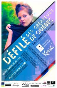 1er Défilé des créateurs de mode de Québec le 26 septembre chez Signatures québécoises