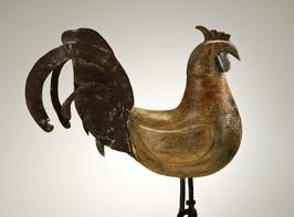 Coq de croix de chemin, artisan inconnu, entre 1850 et 1923, SMCC 77-943