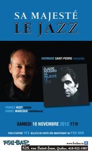 le samedi 10 novembre 2012 à 17h au Fou-Bar