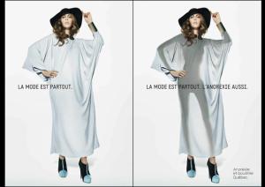 La mode est partout, l'anorexie aussi