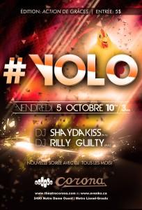 Première soirée #YOLO - 5 octobre - Théâtre Corona