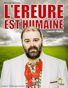 L'EREURE EST HUMAINE de Laurent Paquin
