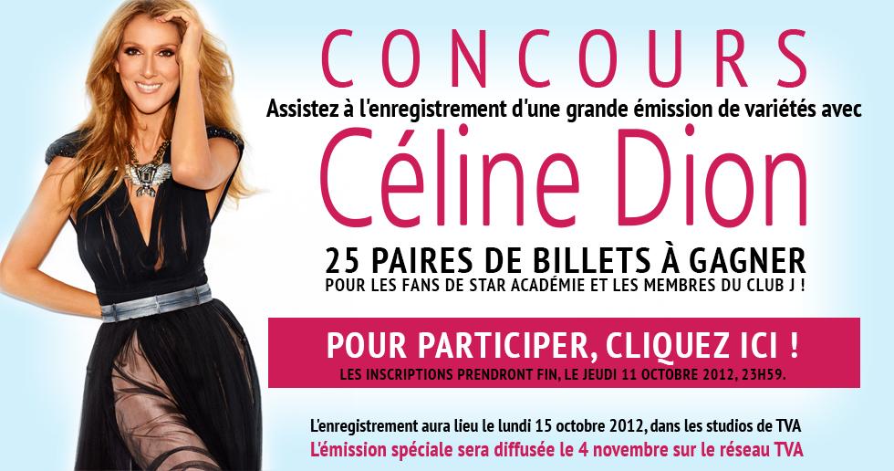 CONCOURS émission spéciale CÉLINE DION
