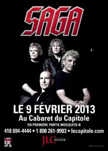 Le groupe Saga de retour à Québec