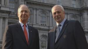 Daniel Johnson et Pierre-Marc Johnson