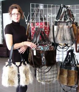 Josée Pelletier Création lance une collection de sacs à main de fourrure recyclée