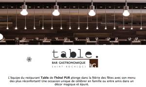 LE RESTAURANT TABLE PLONGE DANS LA FÉÉRIE DES FÊTES