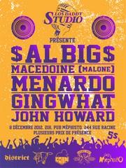 Prestation « live » de Menardo, $AL-BIG$ avec John Howard le 8 décembre