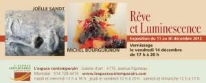 Joëlle SANDT &  Michel BOURGUIGNON Exposition «  RÊVE & LUMINESCENCE  »