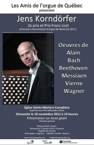 L'organiste allemand Jens Korndörfer