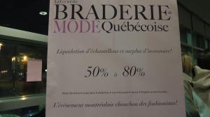 Braderie à Québec